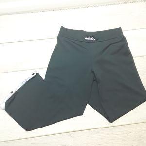 Adidas wide leg cropped pants Size M